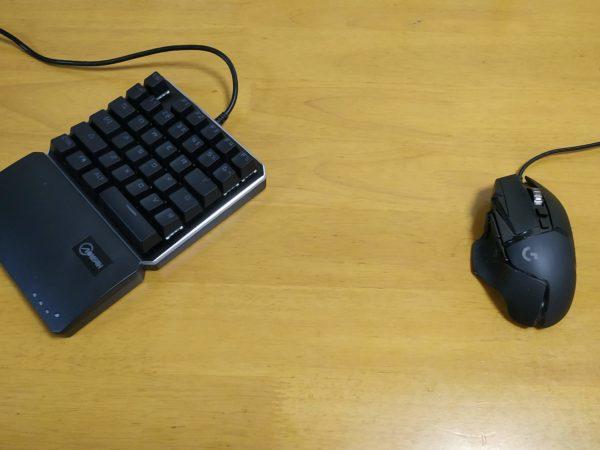 左手キーボードとG502マウス