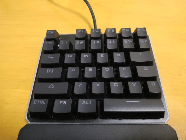 左手キーボードのキー配置
