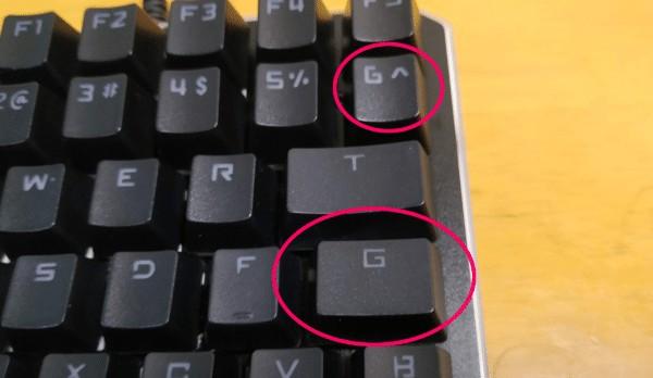 左手キーボードのフォント