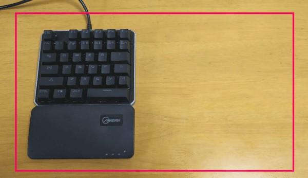 右側がない左手キーボード
