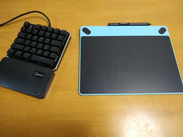 左手キーボードを左手デバイスとして使う