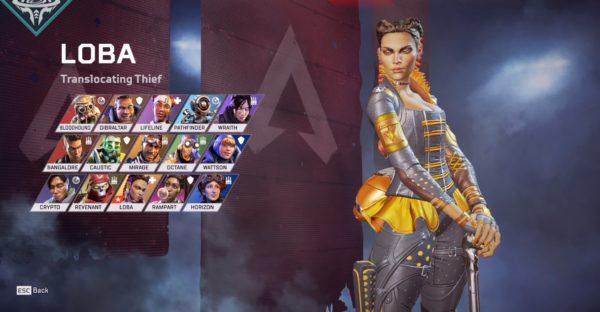 Apex Legends ローバの英語スペル