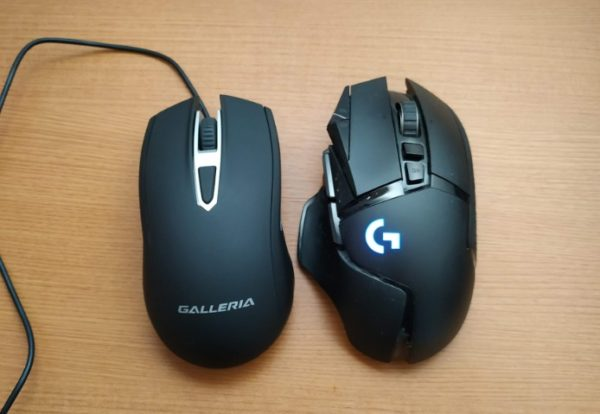 多ボタンマウス 普通のマウス 比較