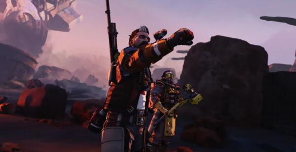 Apex Legends シーズン8の新キャラFuseが爆弾を射出するシーン
